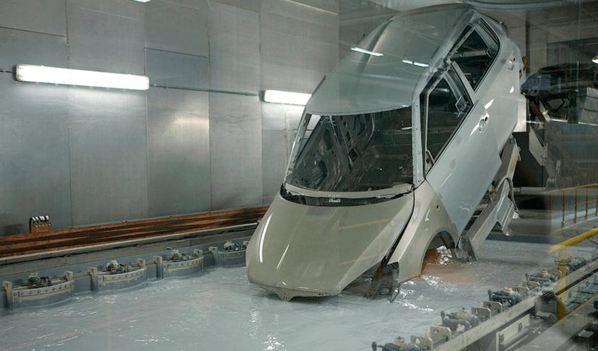 Роботизированное грунтование кузова автомобиля погружением
