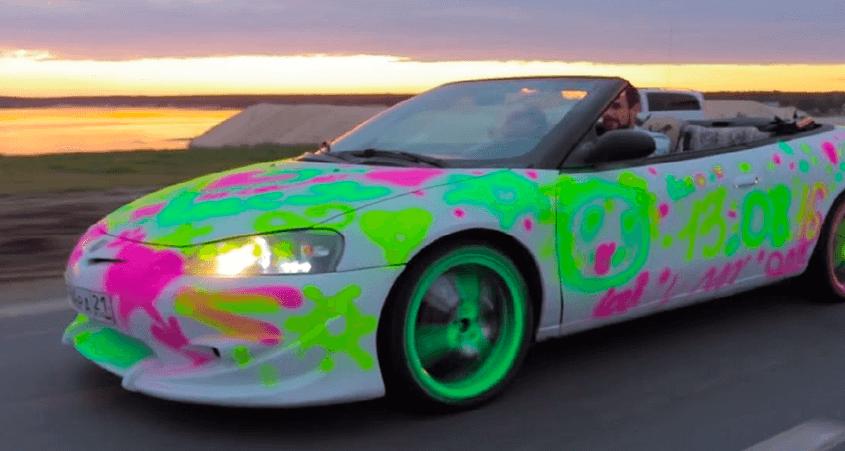 Надписи меловой краской на авто